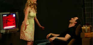 Katherine Harris as Nora and Nick Jamieson as Torvald.